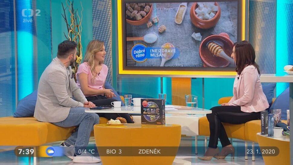 Monika Rychlovská Tělupilová byla hostem vpořadu Dobré ráno.